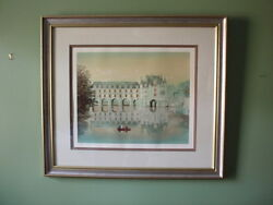 Chenonceau Lithograph Signed In Pencil By Michel Delecroix Numbered 113/150