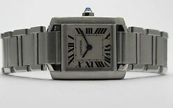 Tank Francaise Ladies Stainless Steel Watch Style W51008q3