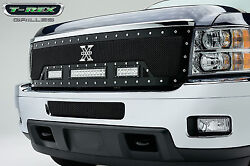 T-rex Torch Series Led Grille For 11-13 Chevy Silverado 2500 3500 Hd 6311151 Blk