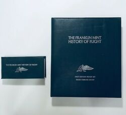 Franklin Mint History of Flight 100 Solid Silver Coins **Uncirculated Proof Set