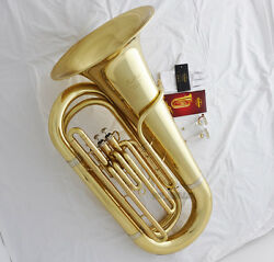 Professional Gold Taishan Tuba Horn Bb Keys Monel Valves 2 Mouthpiece With Case