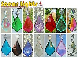Chandelier Drops Crystals Cut Glass Vintage Chic Wedding Shabby Prisms Droplets