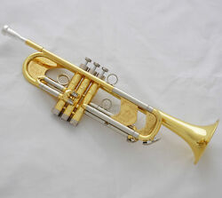 Newest Professional Gold Heavy Trumpet B-flat Horn Germany Brass With Case