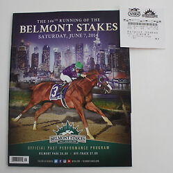New 2014 Belmont Stakes Program 2 Win Ticket California Chrome Breeders Cup