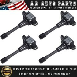 Set Of 4 Ignition Coils For Nissan Altima Cube Rogue Infiniti Fx50 Uf549