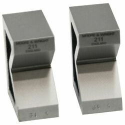 Vee Blocks Precision Ground Faces Cast Iron V-block Pair Moore And Wright 211