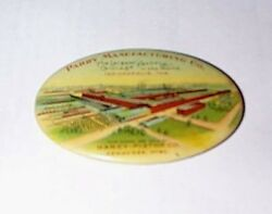 Rare 1900 Parry Manufacturing Co Carriage Factory Advertising Pocket Mirror