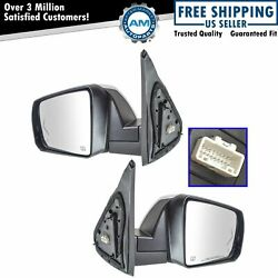 Mirror Power Fold Heated Signal Memory Blind Spot Puddle Chrome Pair For Tundra