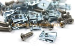 25 X Stainless Fairing Panel Std M6 Button Head Bolt Bolts And Speed Spire C Clips
