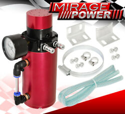 For Vw Kia Car Auto Racing High Capacity Vacuum Breather Oil Catch Can Tank Red