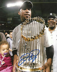 Jermaine Dye And039chicago White Soxand039 05 W.s. Mvp Signed 8x10 Picture Coa Proof 4