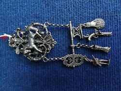 Russian Silver Chatelaine, Huntsman Buckle, Belt Hook, Clasp And Appendices