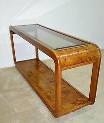 Burl Wood Sofa Console Table-baughman-springer-evans Ask For Shipping Quote