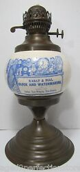 Karat And Dial Clock And Watchmakers Advertising Store Display Sign Ad Oil Lamp