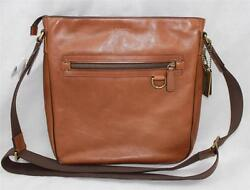 AUTH Coach Men Bleecker Legacy Leather Field Crossbody Bag