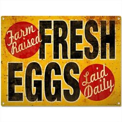 Fresh Eggs Vintage-Style Country Kitchen Sign Chicken Coop Decor  16 x 12