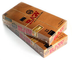 2 Boxes X Raw Classic Natural Unrefined Rolling Paper Size 1 1/4 - 48 Packs