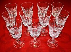 Waterford Crystal Kylemore 11 Water Goblet Glasses Mint 6 3/4 Tall