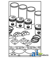Compatible With John Deere In Frame Overhaul Kit Ik18845 762a 6.466d, 6cyl Eng