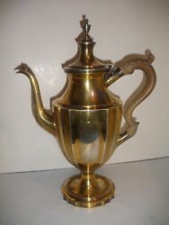 Rare 15 Antique And Company Sterling Silver Teapot Coffee Pot 1270gr