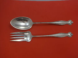 Canterbury By Towle Sterling Silver Salad Set 2-piece Long Handle 11 1/2