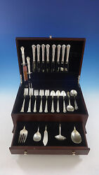 Stately By State House Sterling Silver Flatware Set For 8 Service 47 Pieces