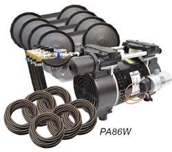 Easypro Rocking Piston Pond Aeration Kit 3/4hp Kit With Tubing And Diffusers Pa86w