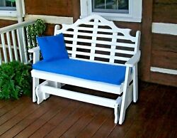 Poly 5' Marlboro Porch Glider - Choose From Multiple Colors - Amish Made In Usa