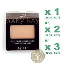 Mary Kay Sheer Mineral Pressed Powder,kompakt-puder, (IVORY 2) 1, 2 or 3 PCS/LOT