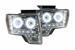 Recon Lighting Projector Headlights - Clear 09-13 Ford F150 And Raptor 264190clcc