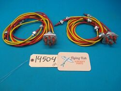 Left And Right Dyna Flite 6 Cyl Ignition Harness 63-0085 With 3/4 Leads 14504