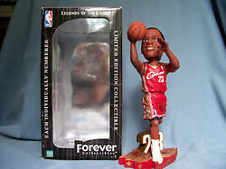 2003 Lebron James Red Jersey Shooting Rookie Bobblehead Cleveland Cavaliers Mint