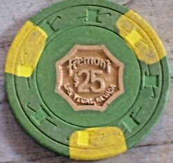 25 Vintage 6th Edition Chip From The Fremont Casino Las Vegas
