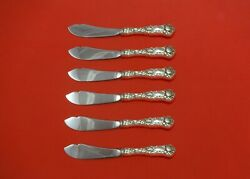 Bridal Rose By Alvin Sterling Silver Trout Knife Set 6pc Hhws Custom Made