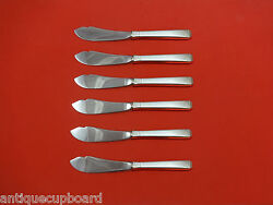 Craftsman By Towle Sterling Silver Trout Knife Set 6pc Hhws Custom Made