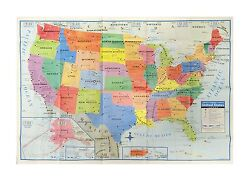 United States US Wall Map 40quot; x 28quot; USA Large Poster Size Home School Offic