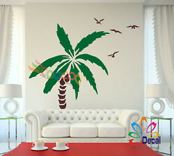 Wall Decor Decal Sticker Removable Palm Trees 72quot;H x 50quot;W Two colors one tree