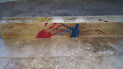 Authentic Lucille Bat And Hand Made/hand Painted Teak Wood Box