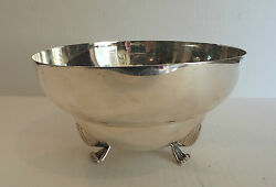 Lovely Art Deco Mid-century Sterling Silver 8 Footed Bowl, 533 Grams