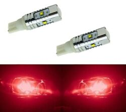 LED Light 30W 168 Red Two Bulbs Dome Map Park License Side Marker Mirror