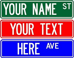 Personalized Custom Street Sign 6x24 Make Your Own Sign - Free Shipping