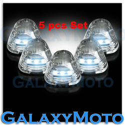 5pcs Cab Roof Top White Led Lights Clear Lens Marker Running Lamps Truck Rv 4x4