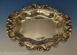 Theodore B. Starr Sterling Silver Bowl Vegetable Oval W/seashell Border 0685