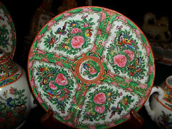 Antiqe Hand Painted China Art Rose Medalion . Exc.cond.never Out Of The Hutch