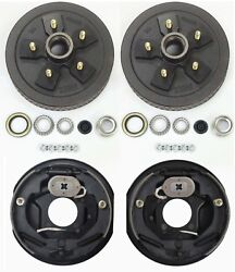 Trailer 5 On 5 Hub Drum Kits With 10x2-1/4 Electric Brakes For 3500 Lbs Axle