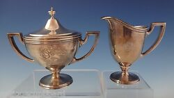 Hamilton Aka Gramercy By And Co. Sterling Silver Sugar And Creamer 2pc 0948