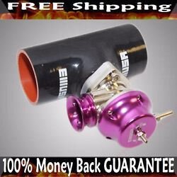 3 Black Silicone Type S Adapter+type S Bov Fits Acura Bmw Toyota Mitsubishi