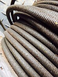 Steel Cable .796 Inch 20.25 Mm Wire Rope Cable Rigging Winch Crane Choker Boat