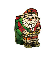 Meyda Lighting 17241 9h Santa Claus Style Stained Glass Accent Lamp
