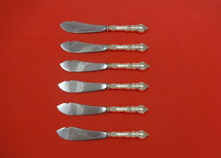 Meadow Rose By Wallace Sterling Silver Trout Knife Set 6pc. Hhws Custom 7 1/2